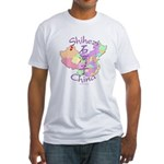 Shihezi China Map Fitted T-Shirt
