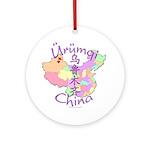 Urumqi China Ornament (Round)