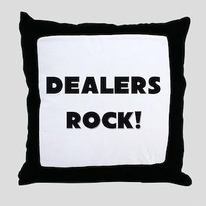 Dealers ROCK Throw Pillow