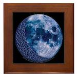 Celtic Knotwork Blue Moon Framed Tile