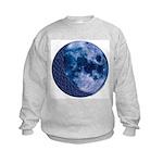 Celtic Knotwork Blue Moon Kids Sweatshirt