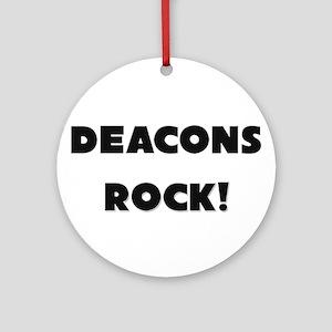 Deacons ROCK Ornament (Round)