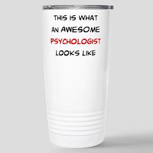 awesome psycholog 16 oz Stainless Steel Travel Mug