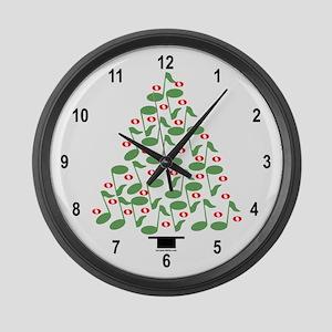 Musical Tree Large Wall Clock