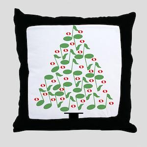Musical Tree Throw Pillow