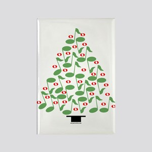 Musical Tree Rectangle Magnet