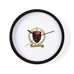 FOUCHER Family Crest Wall Clock