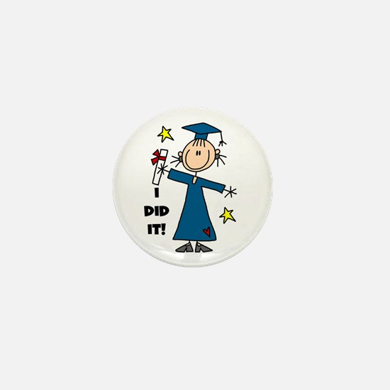 Girl Graduate Mini Button