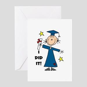 Girl Graduate Greeting Card
