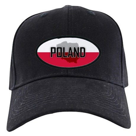 Flag of Poland Extra Black Cap