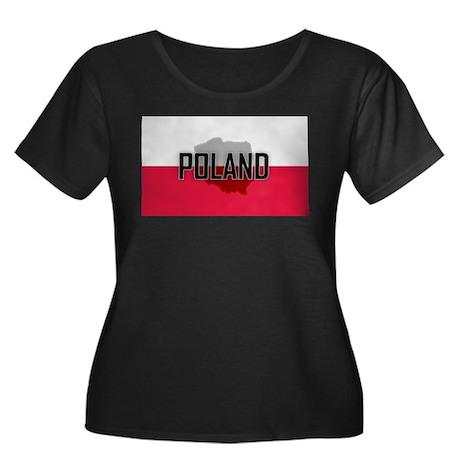 Flag of Poland Extra Women's Plus Size Scoop Neck