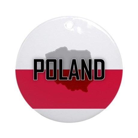 Flag of Poland Extra Ornament (Round)