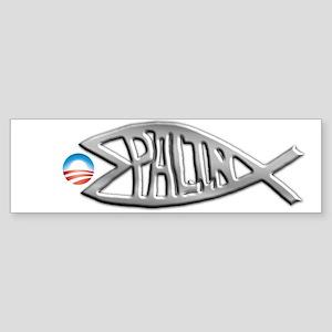 PalinFish Eats Obamessiah Bumper Sticker