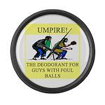 umpire t-shirts presents Large Wall Clock