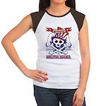 MILITIA MAMA Women's Cap Sleeve T-Shirt