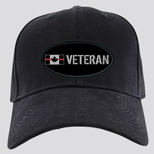 Canadian Firefighters: Vetera Black Cap with Patch