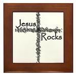 Jesus Rocks Christian Framed Tile