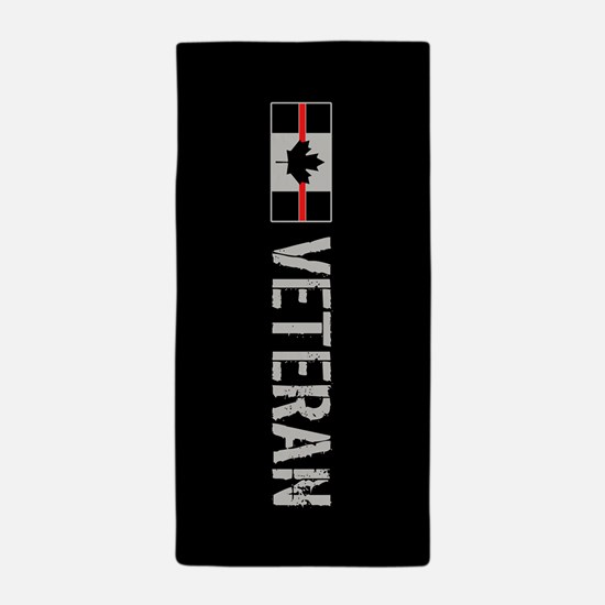 Canadian Firefighters: Veteran Beach Towel