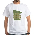 Minnesota State Cornhole Cham White T-Shirt