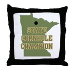 Minnesota State Cornhole Cham Throw Pillow