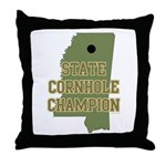 Mississippi State Cornhole Ch Throw Pillow