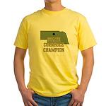 Nebraska State Cornhole Champ Yellow T-Shirt