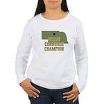 Nebraska State Cornhole Champ Women's Long Sleeve
