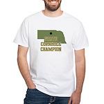 Nebraska State Cornhole Champ White T-Shirt