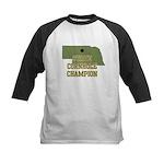Nebraska State Cornhole Champ Kids Baseball Jersey