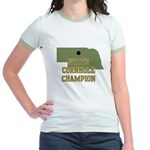 Nebraska State Cornhole Champ Jr. Ringer T-Shirt