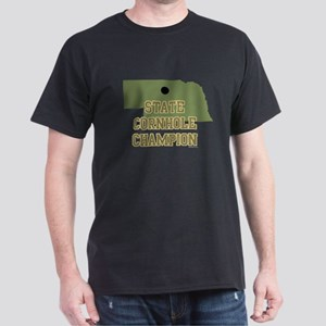 Nebraska State Cornhole Champ Dark T-Shirt