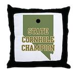 Nevada State Cornhole Champio Throw Pillow