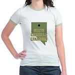 Nevada State Cornhole Champio Jr. Ringer T-Shirt