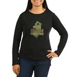 New Jersey State Cornhole Cha Women's Long Sleeve