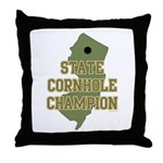 New Jersey State Cornhole Cha Throw Pillow