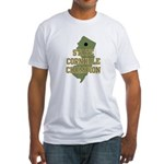 New Jersey State Cornhole Cha Fitted T-Shirt