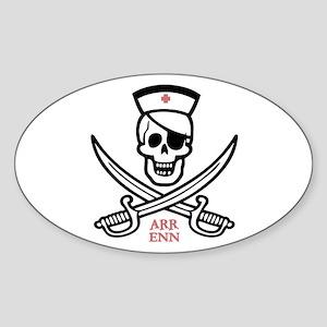 Arr Enn Rackham Oval Sticker