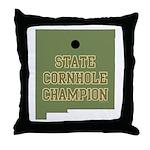 New Mexico State Cornhole Cha Throw Pillow