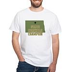 North Dakota State Cornhole C White T-Shirt