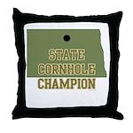 North Dakota State Cornhole C Throw Pillow