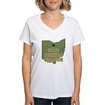 Ohio State Cornhole Champion Women's V-Neck T-Shir