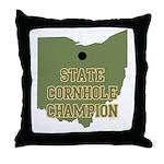 Ohio State Cornhole Champion Throw Pillow