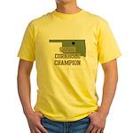 Oklahoma State Cornhole Champ Yellow T-Shirt