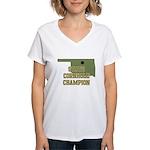 Oklahoma State Cornhole Champ Women's V-Neck T-Shi
