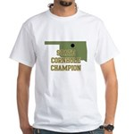 Oklahoma State Cornhole Champ White T-Shirt