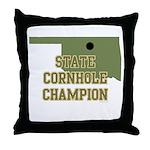 Oklahoma State Cornhole Champ Throw Pillow