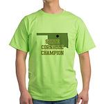 Oklahoma State Cornhole Champ Green T-Shirt