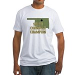 Oklahoma State Cornhole Champ Fitted T-Shirt