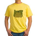 Oregon State Cornhole Champio Yellow T-Shirt