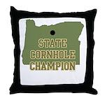 Oregon State Cornhole Champio Throw Pillow